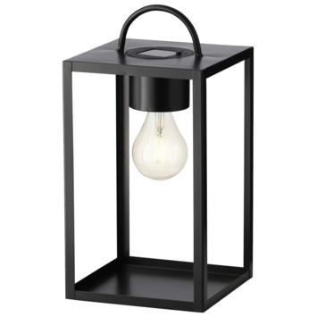 LED solar lantaarn kubus zwart