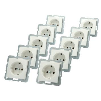 Berker S.1 Voordeelpack Inbouw Enkel Geaard Stopcontact  10 Stuks Wit
