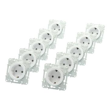 Schneider Electric Odace voordeelpack inbouw stopcontacten 10 stuks