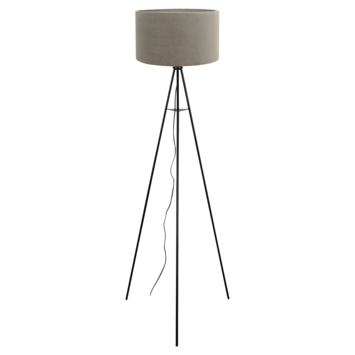 Vloerlamp Mason Ø58x150 cm mat zwart + zand velours