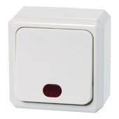 Schneider Electric Merten opbouw controleschakelaar wit