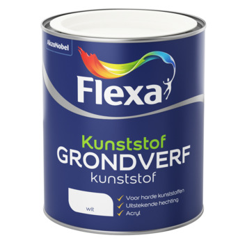 Flexa grondverf kunststof acryl wit 750 ml