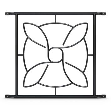 SecuBar Deco 1 Siertralie Zwart 54x52,5 cm