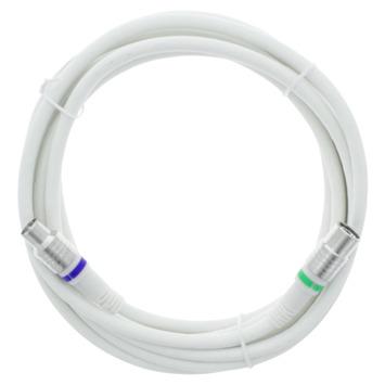 Q-Link Coax Kabel Stekker Recht 3 Meter Wit