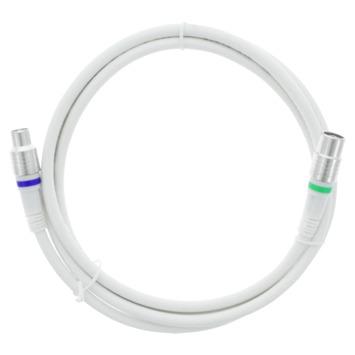 Q-Link coax kabel 1.5 meter stekker recht wit kabelkeur mv