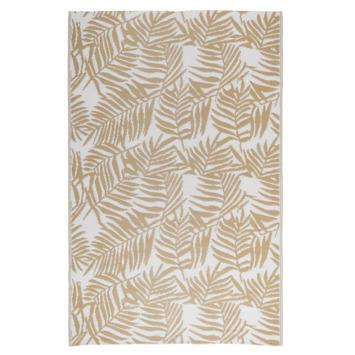 Buitenvloerkleed Tarragona zand/ wit  160x230 cm