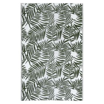 Buitenvloerkleed Tarragona legergroen/ wit  160x230 cm