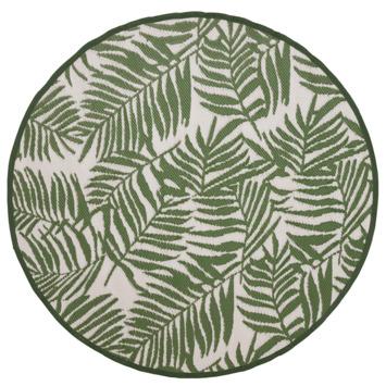 Buitenvloerkleed Tarragona legergroen/ wit 150 cm