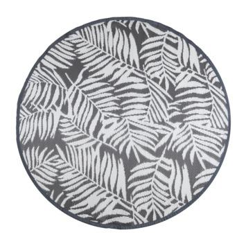 Buitenvloerkleed Tarragona grijs/ wit 150 cm