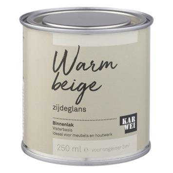Karwei binnenlak zijdeglans 250 ml warm beige
