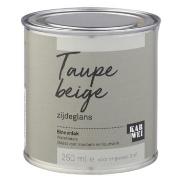 Karwei binnenlak zijdeglans 250 ml taupe beige