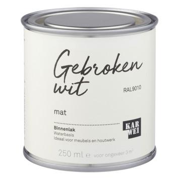 Karwei binnenlak mat 250 ml gebroken wit