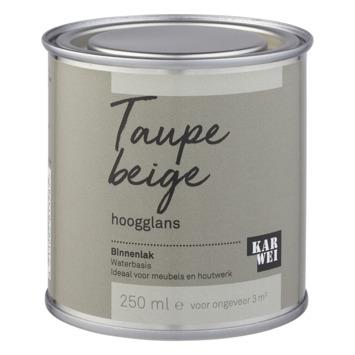 Karwei binnenlak hoogglans 250 ml taupe beige