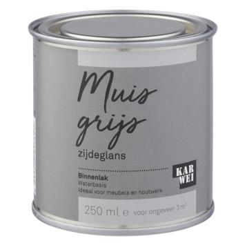 Karwei binnenlak zijdeglans 250 ml muisgrijs