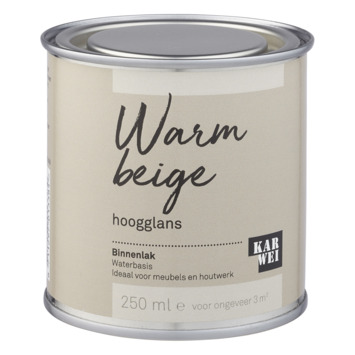 Karwei binnenlak hoogglans 250 ml warm beige