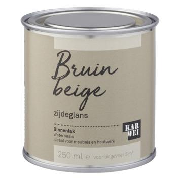 Karwei binnenlak zijdeglans 250 ml bruin beige