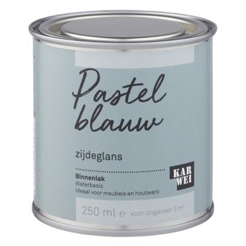 Karwei binnenlak zijdeglans 250 ml pastel blauw