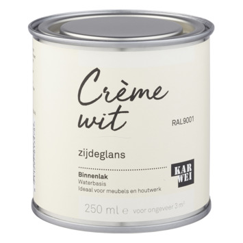 Karwei binnenlak zijdeglans 250 ml crème wit