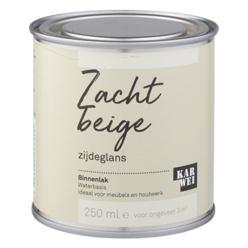 Karwei binnenlak zijdeglans 250 ml zacht beige