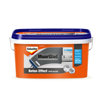 Alabastine MuurGlad beton effect antraciet 5 liter