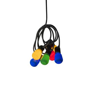 Feestverlichting lichtsnoer 40 multicolour LED lampen
