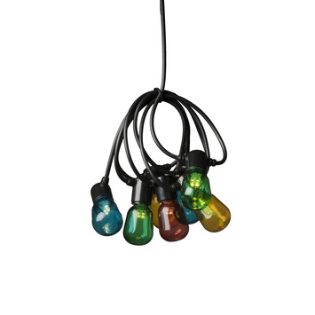 Feestverlichting lichtsnoer 40 multicolor LED lampen
