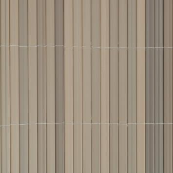 Balkonscherm pvc grijs 90X300 cm