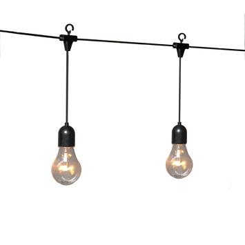 Feestverlichting lichtsnoer 10 LED lampen extra warm wit