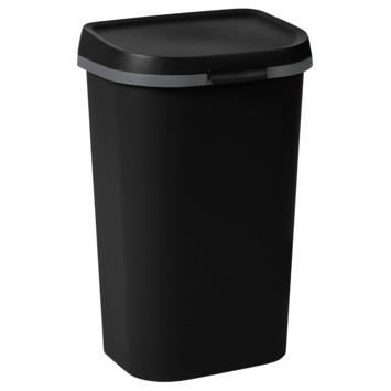 Afvalbak Curver Mistral flat 50L Zwart