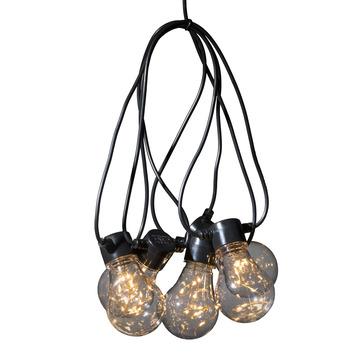 Feestverlichting lichtsnoer 10 LED lampen warm wit