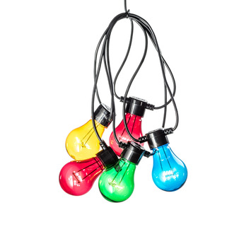 Feestverlichting lichtsnoer 5 multicolor LED lampen