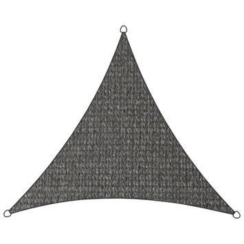 Livin' Outdoor Schaduwdoek Driehoek HDPE Antraciet 500x500x500 cm