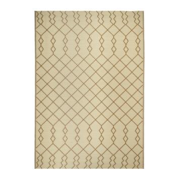 Buitenvloerkleed Malaga beige /bruin 160x230 cm