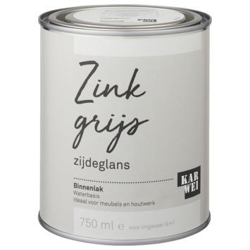 Karwei binnenlak zijdeglans 750 ml zink grijs
