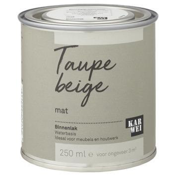 Karwei binnenlak mat 250 ml taupe beige