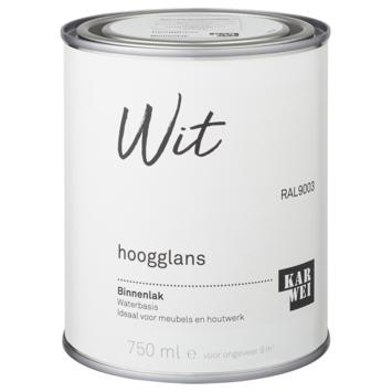 Karwei binnenlak hoogglans 750 ml wit