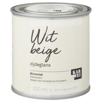 Karwei binnenlak zijdeglans 250 ml wit beige