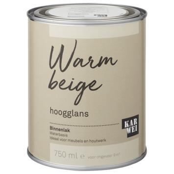Karwei binnenlak hoogglans 750 ml warm beige
