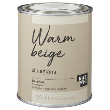 Karwei binnenlak zijdeglans 750 ml warm beige