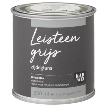 Karwei binnenlak zijdeglans 250 ml leisteen grijs