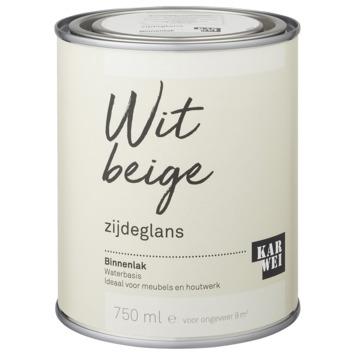 Karwei binnenlak zijdeglans 750 ml wit beige
