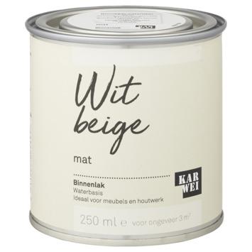 Karwei binnenlak mat 250 ml wit beige