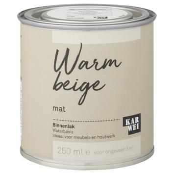 Karwei binnenlak mat 250 ml warm beige