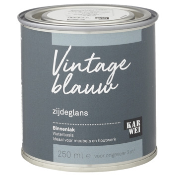 Karwei binnenlak zijdeglans 250 ml vintage blauw