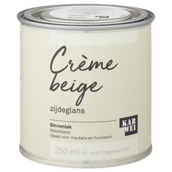 Karwei binnenlak zijdeglans 250 ml crème beige