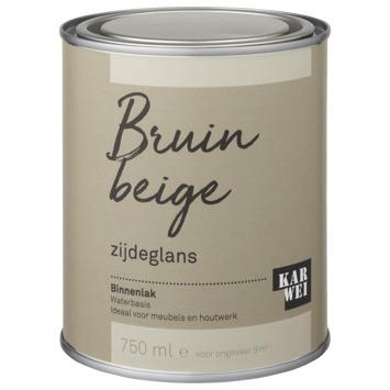 Karwei binnenlak zijdeglans 750 ml bruin beige