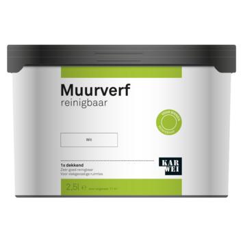 KARWEI muurverf reinigbaar wit 2,5 liter