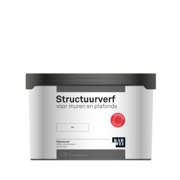 KARWEI structuurverf mat wit 2,5 liter