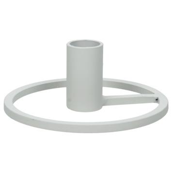 Witte ronde kandelaar 11.5x11.5x4.5cm