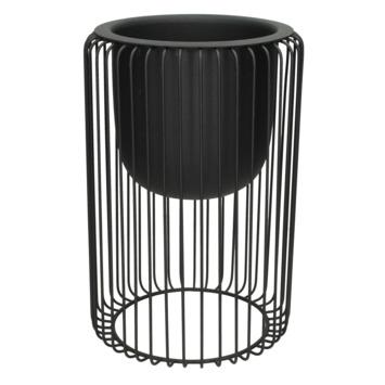 Planter modern zwart 20x20x30cm